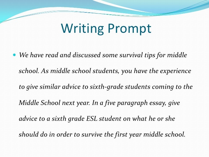 surviving middle school 9 introduction topic paragraph