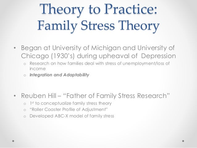 Family Stress Adaptation Theory