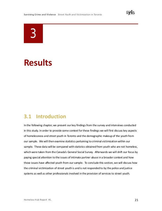 victimization crime and youth The report, surviving crime and violence: street youth and victimization in  toronto, highlights the degree to which it is street youth themselves.