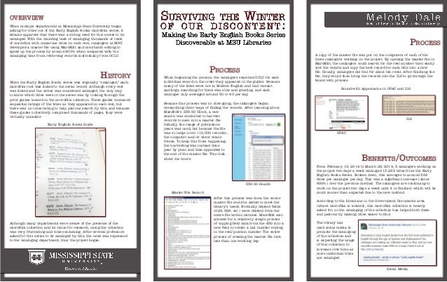 overview Process Process History When multiple departments at Mississippi State University began asking for titles out of ...