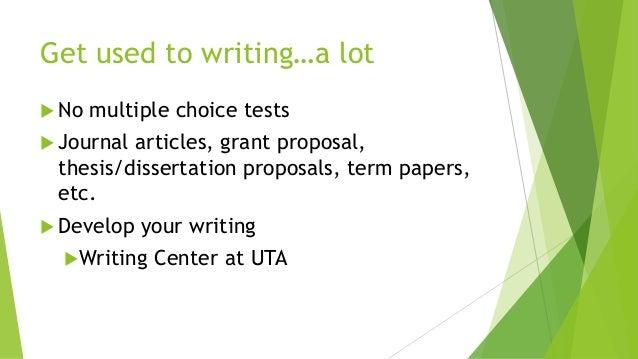 Uta writing center