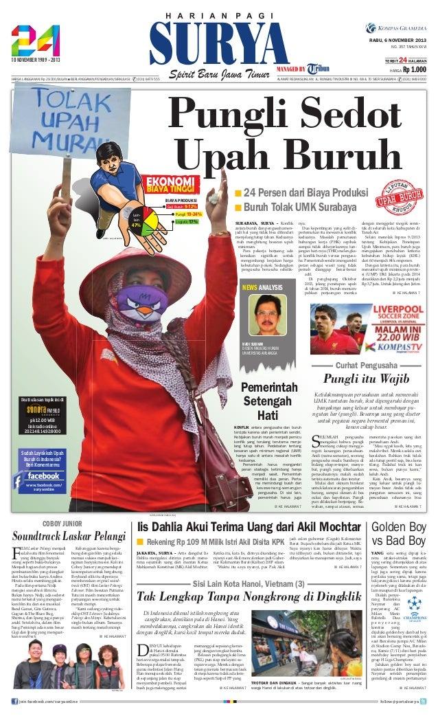 RABU, 6 NOVEMBER 2013 NO. 357 TAHUN XXVI TERBIT  24 HALAMAN  HARGA HARGA LANGGANAN: Rp 29.000/BULAN ● BERLANGGANAN/PENGADU...