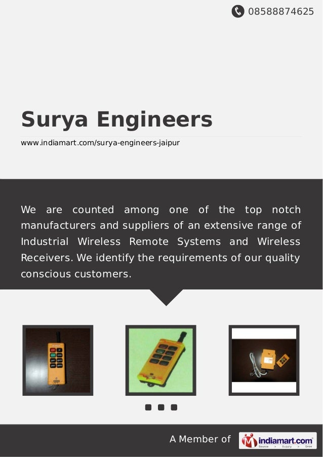 08588874625 A Member of Surya Engineers www.indiamart.com/surya-engineers-jaipur We are counted among one of the top notch...