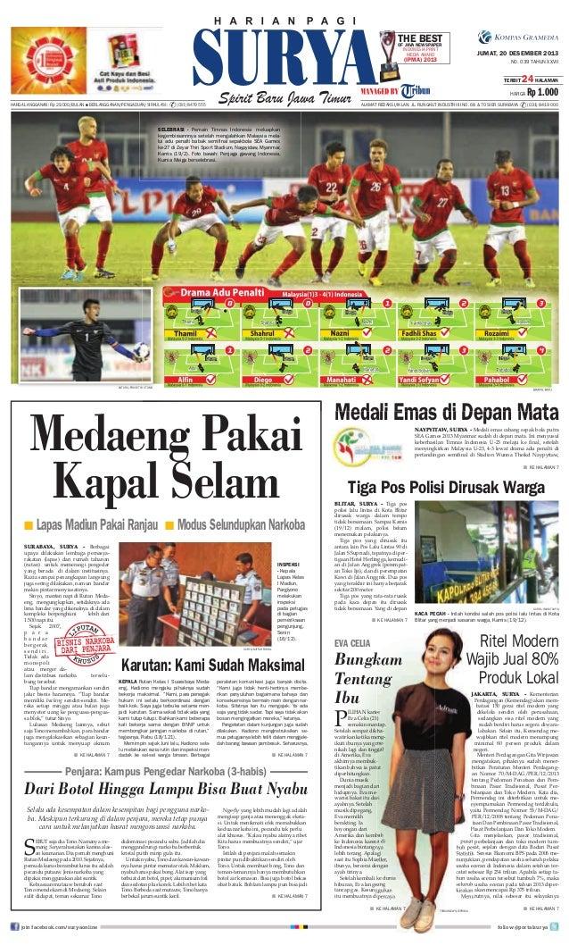 THENEWSPAPER BEST OF JAVA INDONESIA PRINT MEDIA AWARD  JUMAT, 20 DESEMBER 2013  (IPMA) 2013  NO. 039 TAHUN XXVII TERBIT  2...