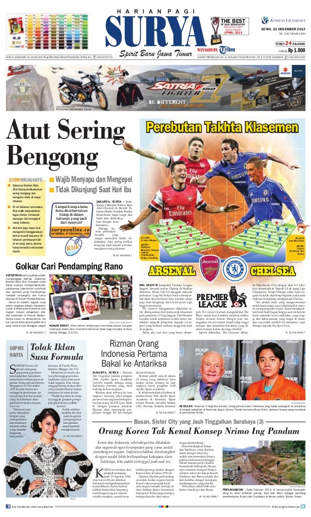 THENEWSPAPER BEST OF JAVA INDONESIA PRINT MEDIA AWARD  SENIN, 23 DESEMBER 2013  (IPMA) 2013  NO. 042 TAHUN XXVII TERBIT  2...