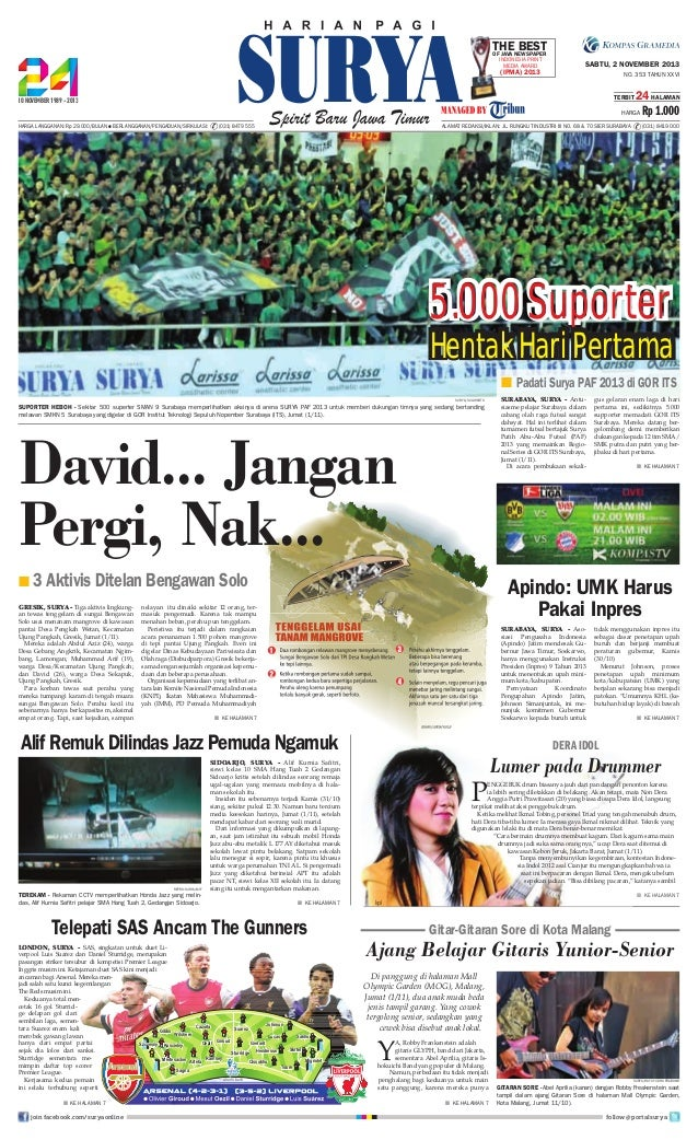 TheNewspaper Best OF Java Indonesia Print Media Award  (IPMA) 2013  SABTU, 2 NOVEMBER 2013 NO. 353 TAHUN XXVI TERBIT  24 H...