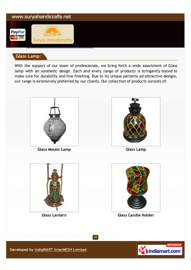 Glass Lamp:With the support of our team of professionals, we bring forth a wide assortment of Glasslamp with an aesthetic ...