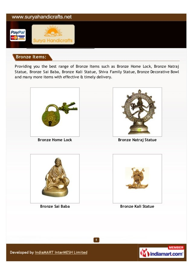 Bronze Items:Providing you the best range of Bronze Items such as Bronze Home Lock, Bronze NatrajStatue, Bronze Sai Baba, ...