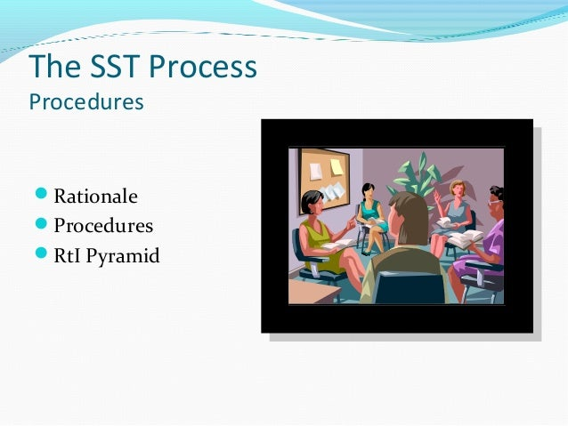 The SST Process Procedures  Rationale Procedures RtI Pyramid