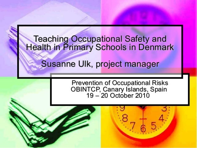 Prevention of Occupational RisksPrevention of Occupational Risks OBINTCP, Canary Islands, SpainOBINTCP, Canary Islands, Sp...