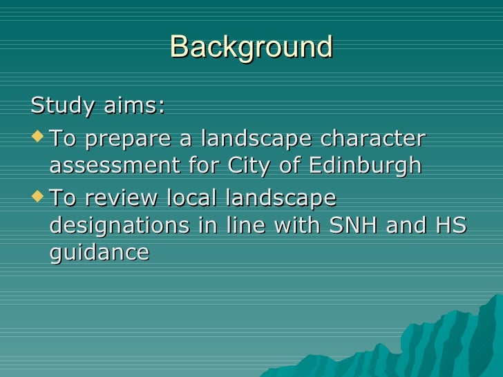 Howto Review for a Landscape Assessment