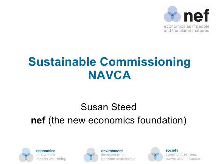 Sustainable Commissioning NAVCA Susan Steed nef  (the new economics foundation)