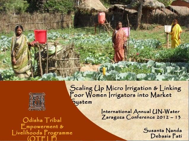 Women                    Scaling Up Micro Irrigation & Linking                    Poor Women Irrigators into Market       ...