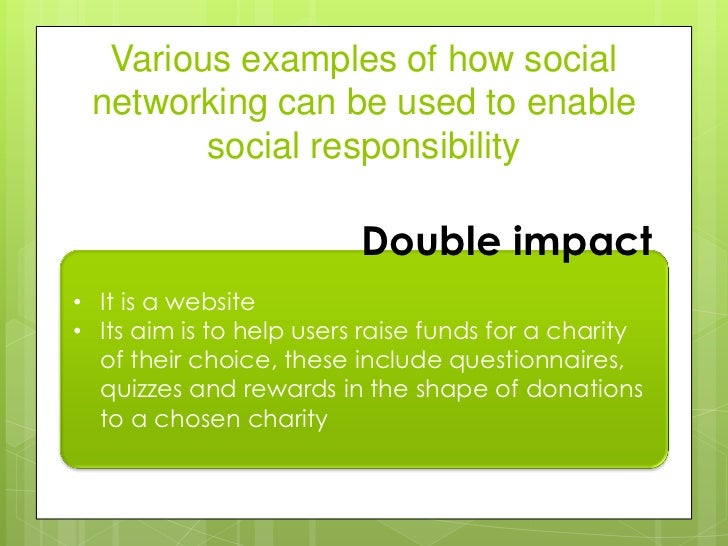 Social networking as enabler of social responsibility and sustainabil…