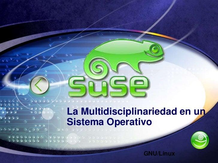 La Multidisciplinariedad en un Sistema Operativo<br />GNU/Linux<br />