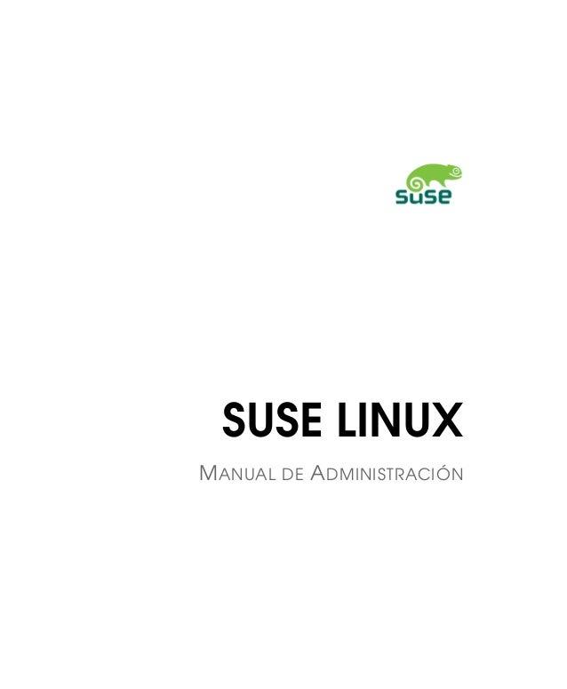 SUSE LINUX MANUAL DE ADMINISTRACIÓN