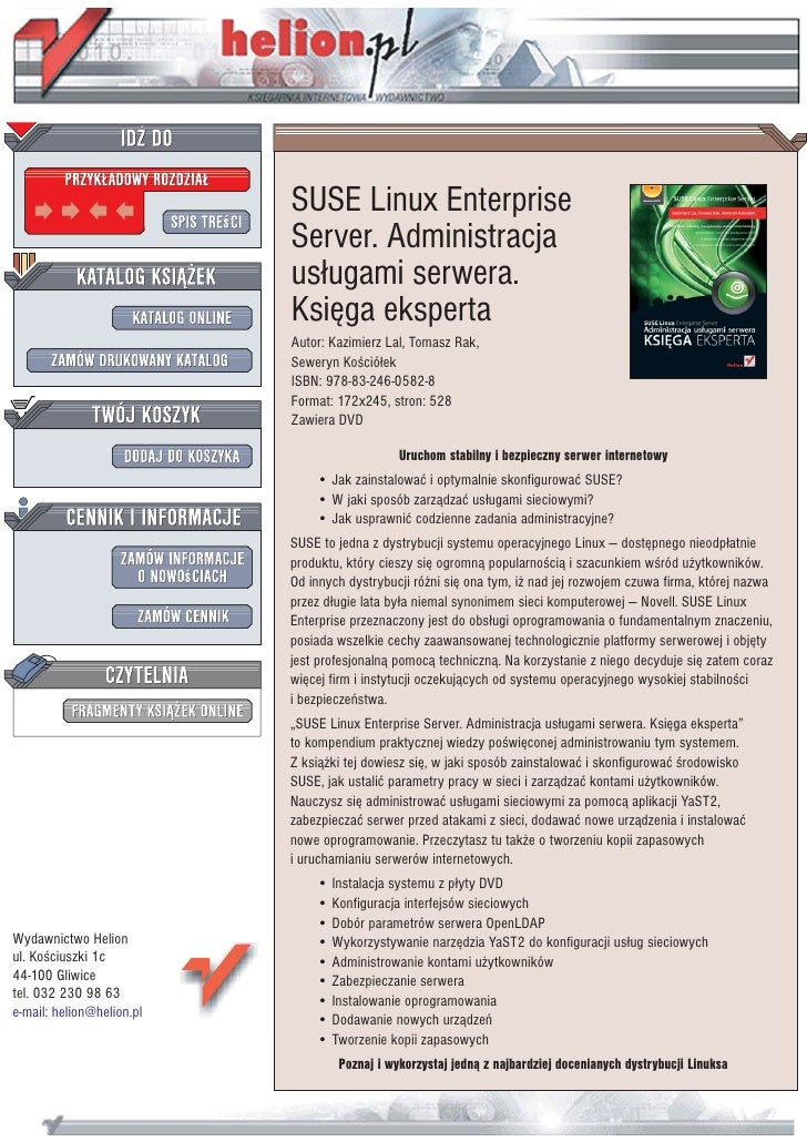 SUSE Linux Enterprise                            Server. Administracja                            us³ugami serwera.       ...