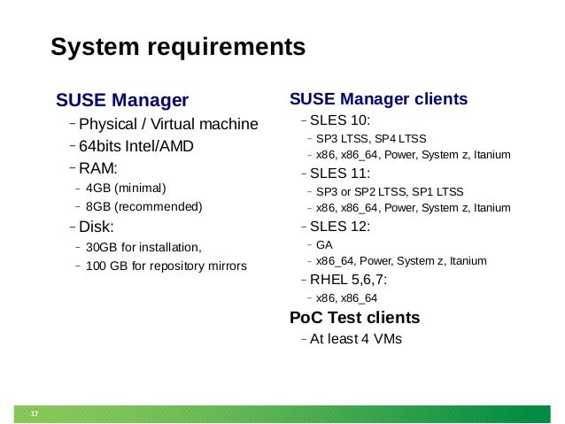 Architecting the SUSE Manager deployment