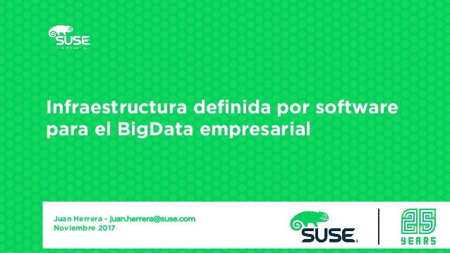 Infraestructura definida por software para el BigData empresarial Presenter's Name Title Company/Email Juan Herrera - juan...