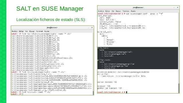 SALT en SUSE Manager Localización ficheros de estado (SLS):