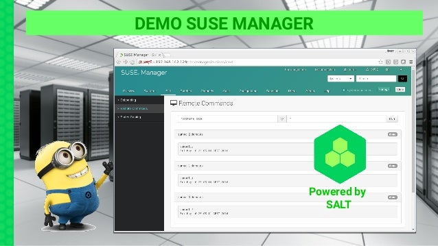 DEMO SUSE MANAGER Powered by SALT