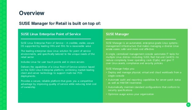 SUSE Manager for Retail 3 1