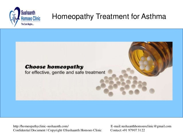 Homeopathy Treatment for Asthma Homeopathy Treatment for Asthma http://homeopathyclinic-sushaanth.com/ E-mail:sushaanthhom...