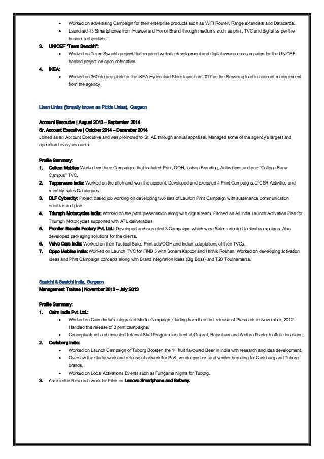 Amazing Resume In Accounts In Gurgaon Sketch - Administrative ...