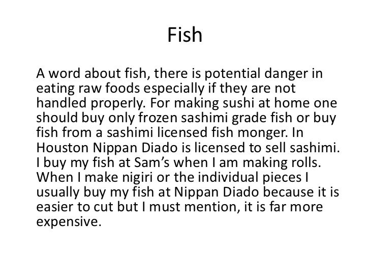 Sushi 101 for Where can i buy sushi grade fish