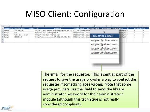 NISO Training Thursday: Implementing SUSHI/COUNTER at Your