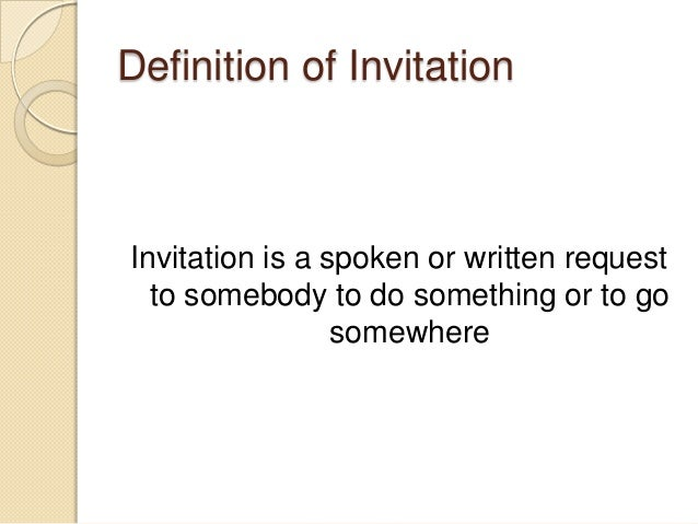 Vocabulary test definition of invitation stopboris Images