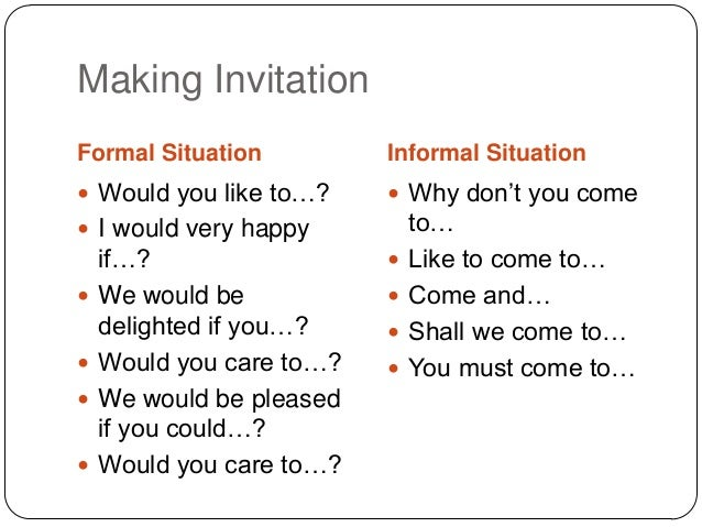 Making Invitation ...