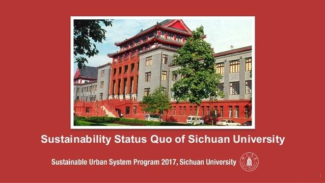 Sustainability Status Quo of Sichuan University 1