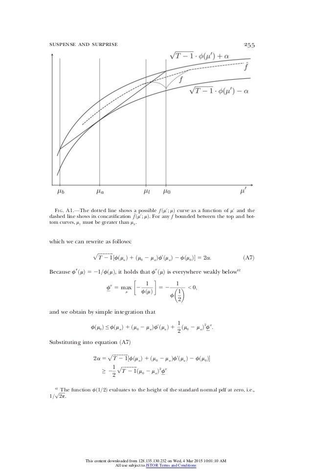 H εξίσωση του suspense