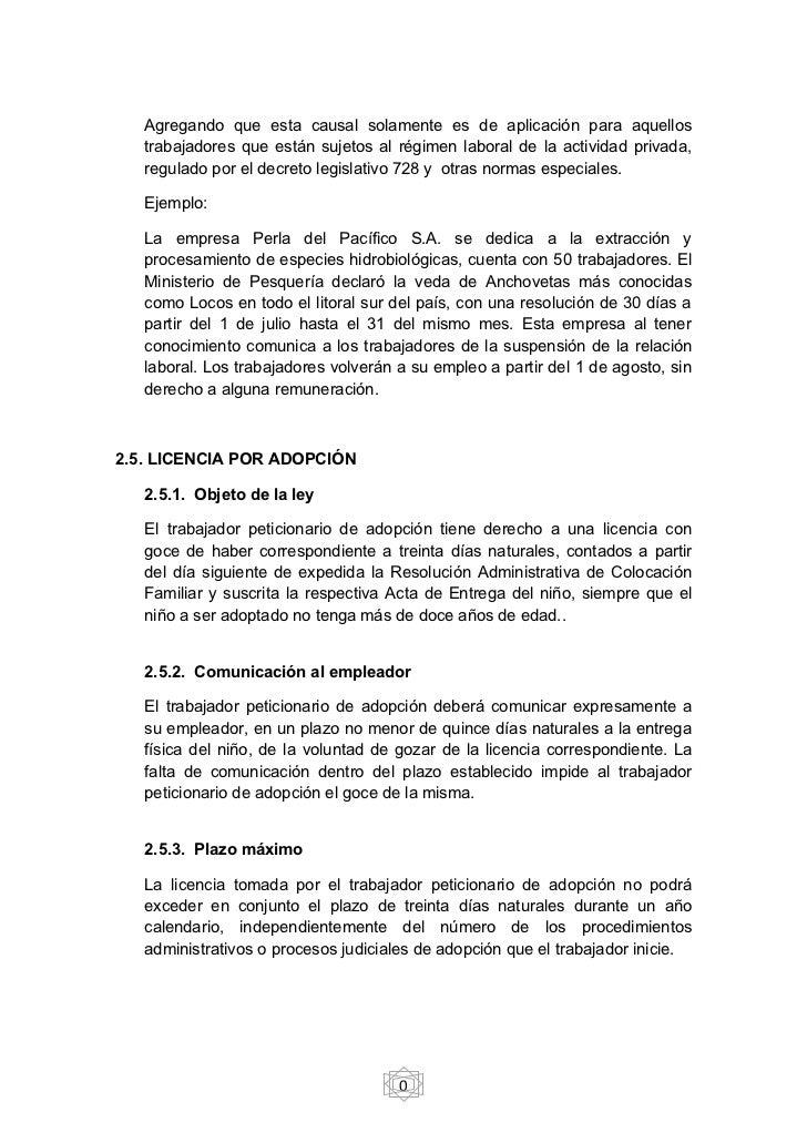 Suspensi n del contrato laboral y norma aplicable for Ministerio de pesqueria