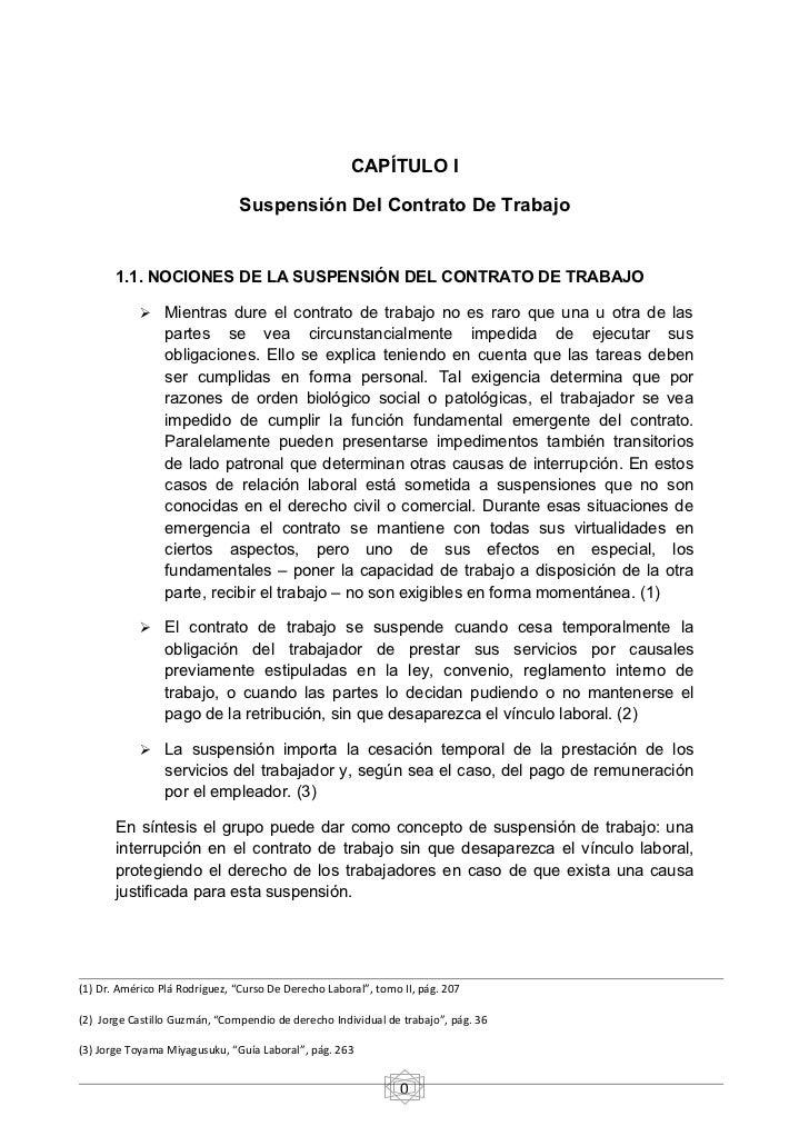 Suspensi N Del Contrato Laboral Y Norma Aplicable
