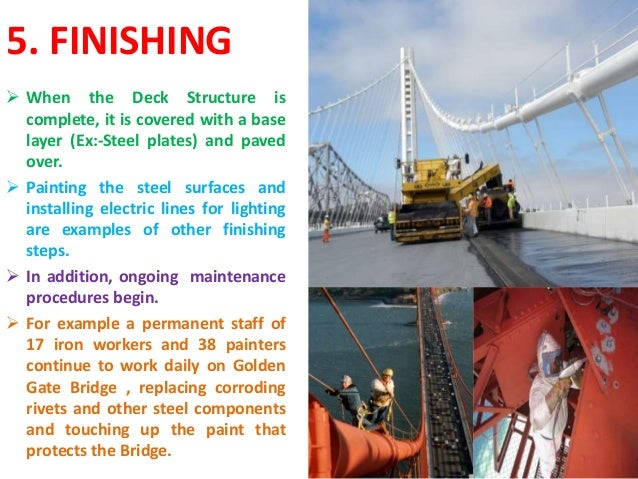 conclusion of a suspension bridge A bridge is a structure built to span physical obstacles without closing the way a composite cable bridge is a type of bridge in which the deck is hung below using suspension cables on vertical.