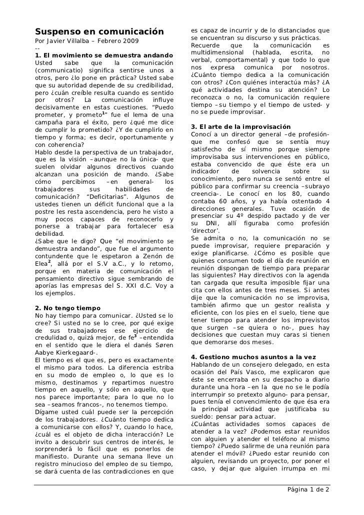 Suspenso en comunicación                             es capaz de incurrir y de lo distanciados quePor Javier Villalba – Fe...