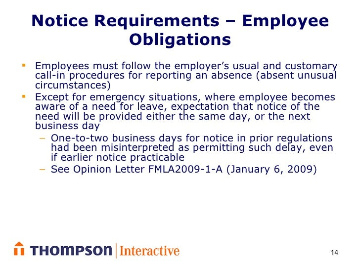 emergency leave letter for employee controlling intermittent leave the fmla 21478 | controlling intermittent leave under the fmla 14 728