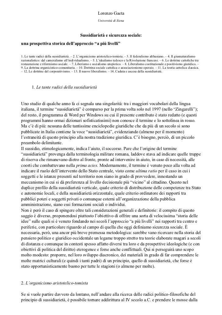 Lorenzo Gaeta                                                           Università di Siena                               ...