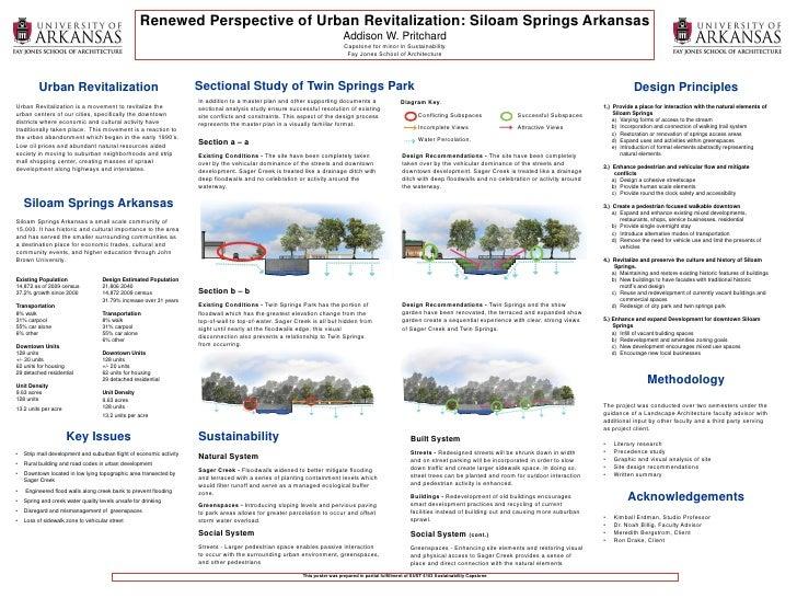 Renewed Perspective of Urban Revitalization: Siloam Springs Arkansas                                                      ...