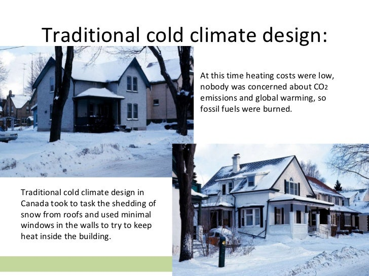 Sustainable design part two climate related issues for Windows for cold climates