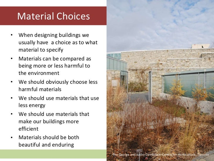 Sustainable Design Part Four Sustainable Materials