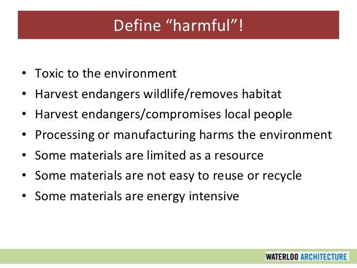 Sustainable Design Part Four: Sustainable Materials