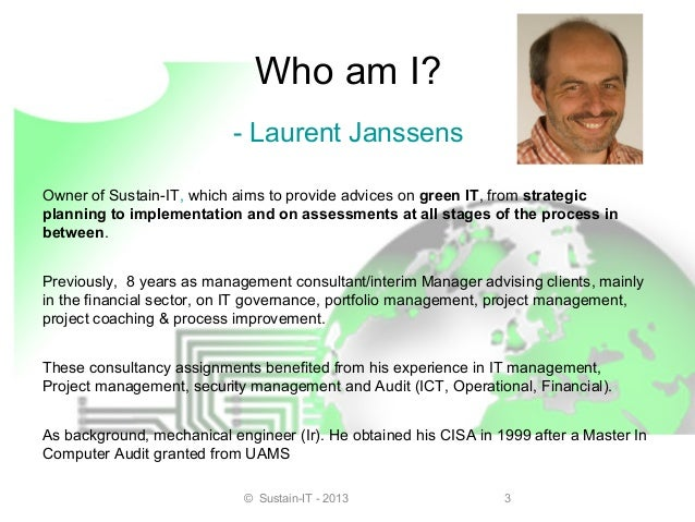 Greening our world through  green Project Management Slide 3
