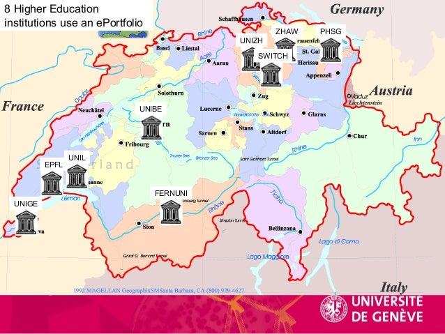 NTICE UNIGE UNIL UNIZH UNIBE ZHAW PHSG SWITCH FERNUNI 8 Higher Education institutions use an ePortfolio EPFL