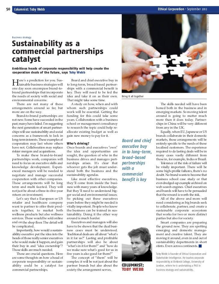 ECM September_Layout 1 03/09/2012 13:34 Page 50   50 Columnist: Toby Webb                                                 ...