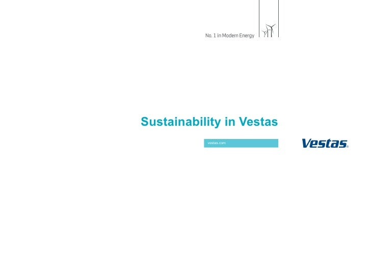 Sustainability in Vestas