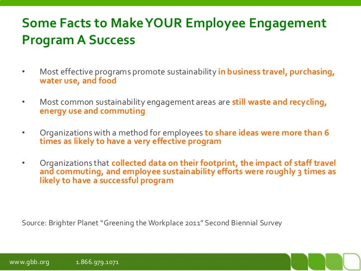 Go green sustainability employee engagement for Facts about going green