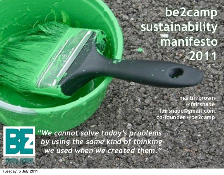 be2camp                                               sustainability                                                  mani...